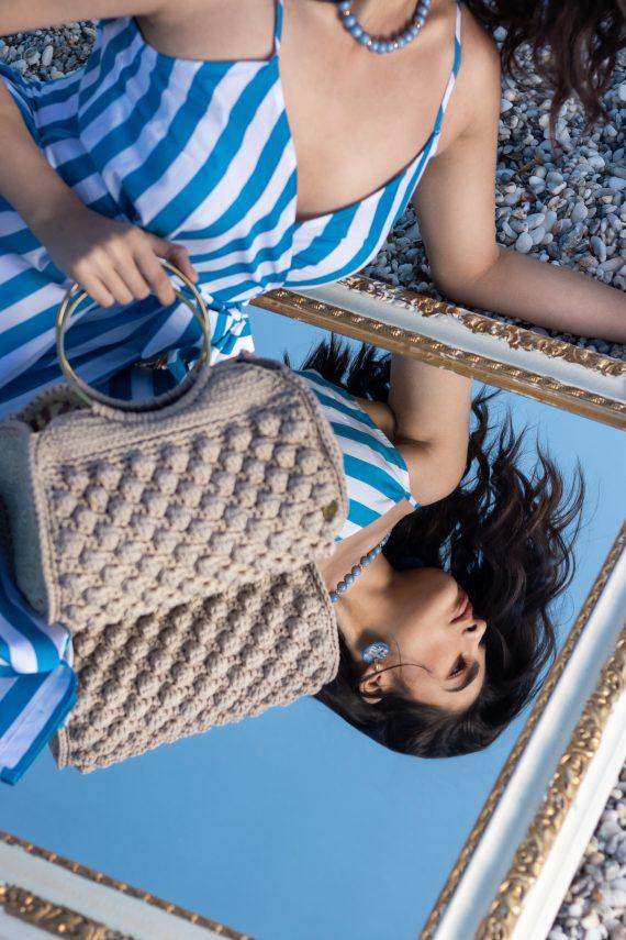 Miss Polyplexi Virida Sand Beige Tote Bag