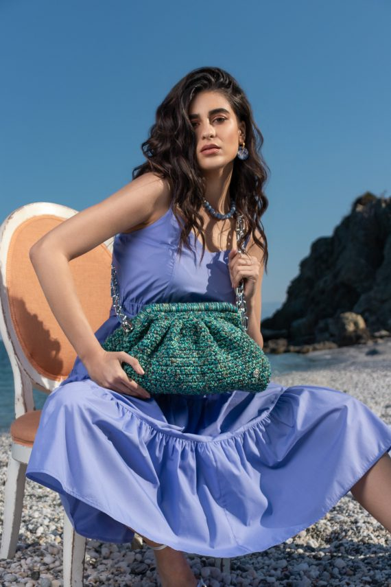 Miss Polyplexi Basilica Turquoise Multicolour Shoulder Bag