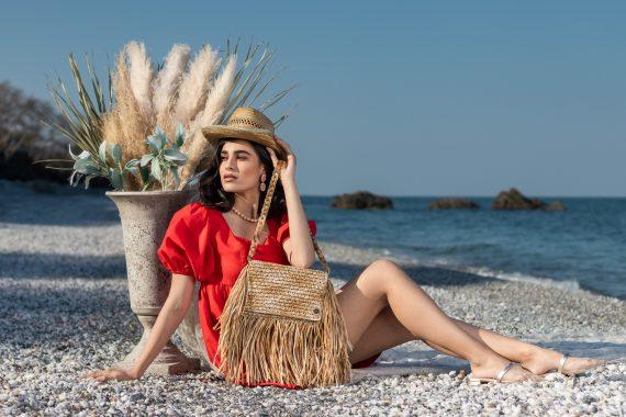 Miss Polyplexi Montastrea Raffia Shoulder Bag