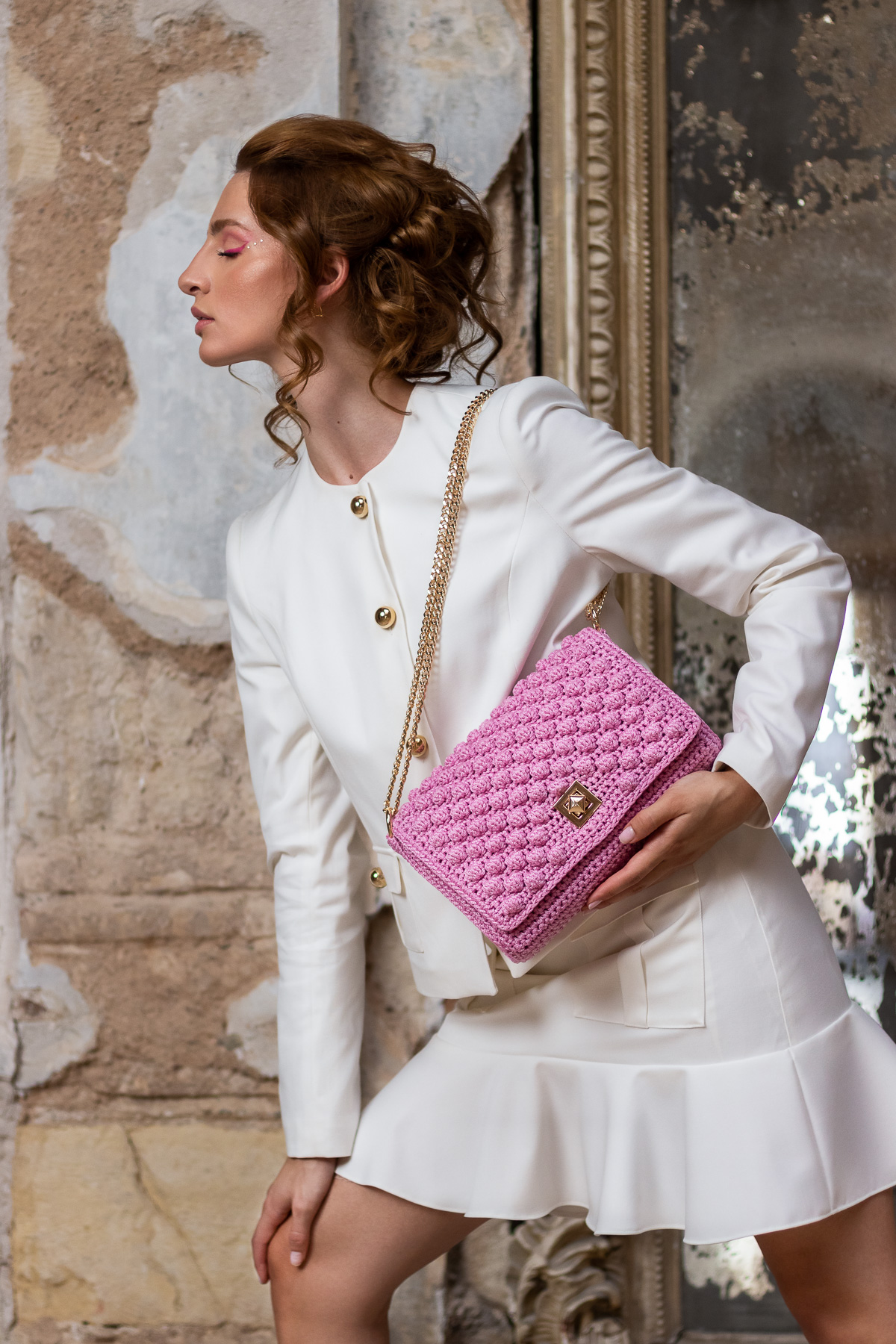 Miss Polyplexi Alma Rose Pink Shoulder Cross-body Bag